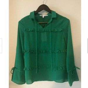 English Factory Kelly Green Top Size XS NWT